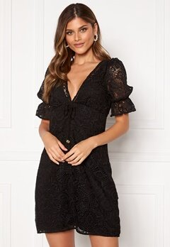 Michael Michael Kors Lux Medallion Lace Dress Black Bubbleroom.no
