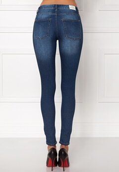 CHEAP MONDAY Mid Spray Jeans Dark Blue Bubbleroom.no