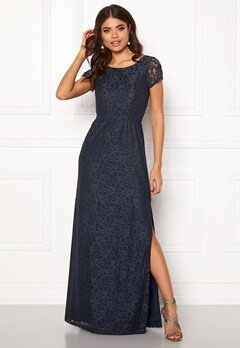 DRY LAKE Mira Long Dress 400 Blue Bubbleroom.no