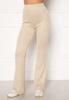 Moa Mattsson X Bubbleroom Cozy rib trousers Light beige Bubbleroom.no