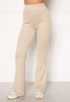 Moa Mattsson X Bubbleroom Cozy rib trousers Light beige bubbleroom.no