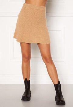 Moa Mattsson X Bubbleroom Knitted short skirt Camel Bubbleroom.no