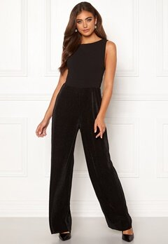 Moa Mattsson X Bubbleroom Pleated pants jumpsuit Black Bubbleroom.no