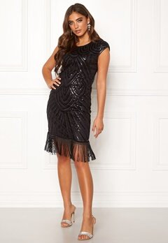 Moments New York Aida Beaded Dress Black Bubbleroom.no