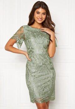 Moments New York Alexandra Beaded Dress Light green Bubbleroom.no