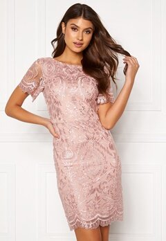 Moments New York Alexandra Beaded Dress Pink Bubbleroom.no