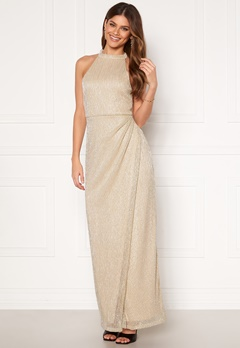 Moments New York Alice Lurex Gown Gold-coloured Bubbleroom.no
