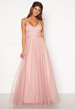 Moments New York Anessa Sparkle Gown Light pink Bubbleroom.no