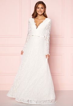Moments New York Antoinette Wedding Gown White Bubbleroom.no