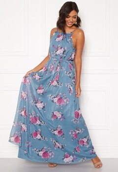Moments New York Aster Chiffon Gown Floral Bubbleroom.no
