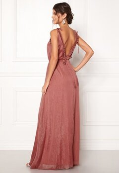 Moments New York Aster Chiffon Gown Old rose Bubbleroom.no