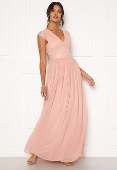 Moments New York Athena Chiffon Gown Dusty pink Bubbleroom.no