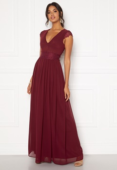 Moments New York Athena Chiffon Gown Wine-red Bubbleroom.no