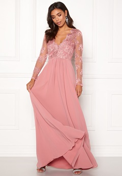Moments New York Azalea Lace Gown Dusty pink Bubbleroom.no