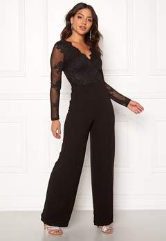 Moments New York Azalea Lace jumpsuit  Black Bubbleroom.no