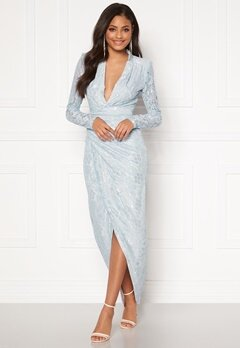 Moments New York Becca Lace Gown Light blue Bubbleroom.no