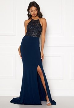Moments New York Bella Sparkle Gown Navy Bubbleroom.no