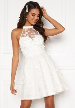 Moments New York Bianca Skater Dress White Bubbleroom.no