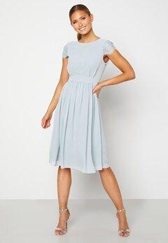 Moments New York Camellia Chiffon Dress Grey-blue Bubbleroom.no