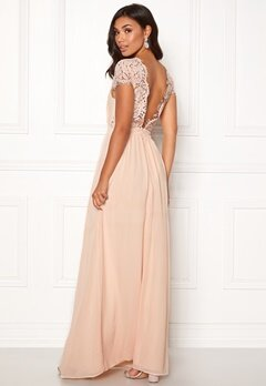 Moments New York Camellia Chiffon Gown Beige-pink Bubbleroom.no