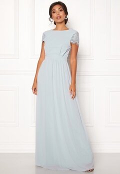 Moments New York Camellia Chiffon Gown Blue-grey Bubbleroom.no
