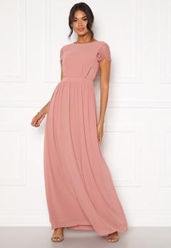 Moments New York Camellia Chiffon Gown Dark old rose Bubbleroom.no