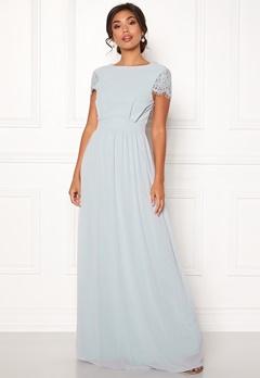 Moments New York Camellia Chiffon Gown Blue-grey Bubbleroom.no