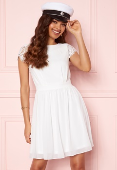 Moments New York Camellia Lace Dress White Bubbleroom.no