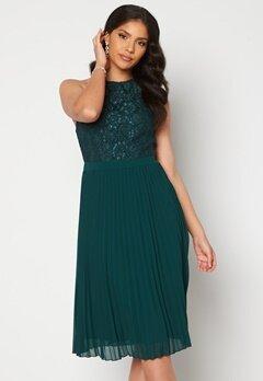 Moments New York Casia Pleated Dress Green Bubbleroom.no