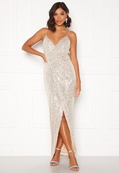 Moments New York Charlotte Sequin Gown Gold Bubbleroom.no