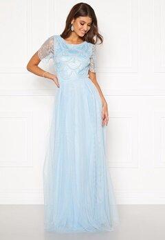 Moments New York Cornelia Beaded Gown Blue Bubbleroom.no