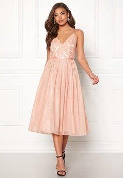 Moments New York Daphne Mesh Dress Dusty pink Bubbleroom.no