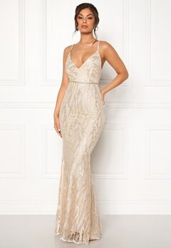 9b932cff Moments New York Delphine Beaded Gown Champagne Bubbleroom.no