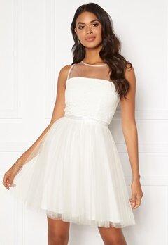 Moments New York Desire mesh dress  White Bubbleroom.no