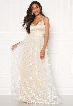 Moments New York Eline Flower Gown Champagne Bubbleroom.no