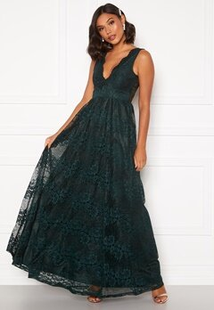 Moments New York Ella Lace Gown Dark green Bubbleroom.no