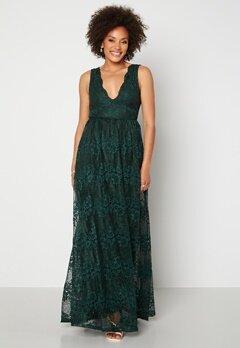 Moments New York Ella Lace Gown Dark green Bubbleroom.no