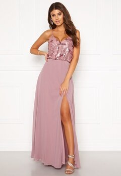 Moments New York Elouise Sequin gown Dusty lilac Bubbleroom.no