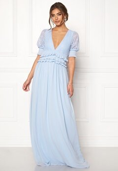 Moments New York Erica Frill Gown Dusty blue Bubbleroom.no