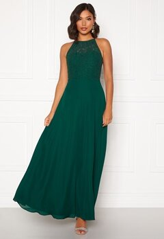 Moments New York Evelyn Lace Gown Dark green Bubbleroom.no