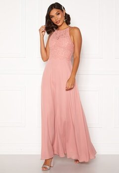 Moments New York Evelyn Lace Gown Pink Bubbleroom.no