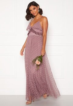 Moments New York Flora Frill gown Dusty lilac Bubbleroom.no