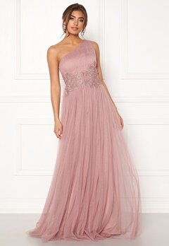 Moments New York Florine Mesh Gown Old rose Bubbleroom.no