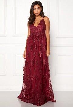 Moments New York Gardenia Lace Gown Dark wine-red bubbleroom.no