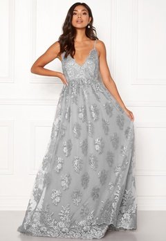 Moments New York Gardenia Lace Gown Blue-grey Bubbleroom.no