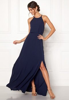 Moments New York Heather Crepe Gown Dark blue Bubbleroom.no