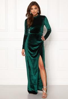 Moments New York Inda Velvet Gown Dark green Bubbleroom.no