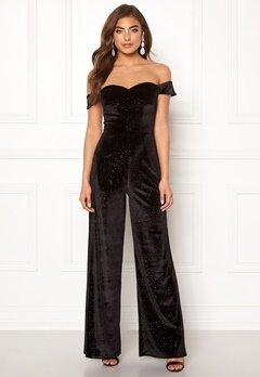 Moments New York Inda Velvet Jumpsuit Black Bubbleroom.no