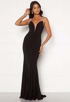 Moments New York Irina Sparkle Gown Black Bubbleroom.no