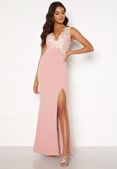 Moments New York Isabella Lace Gown Dusty pink Bubbleroom.no